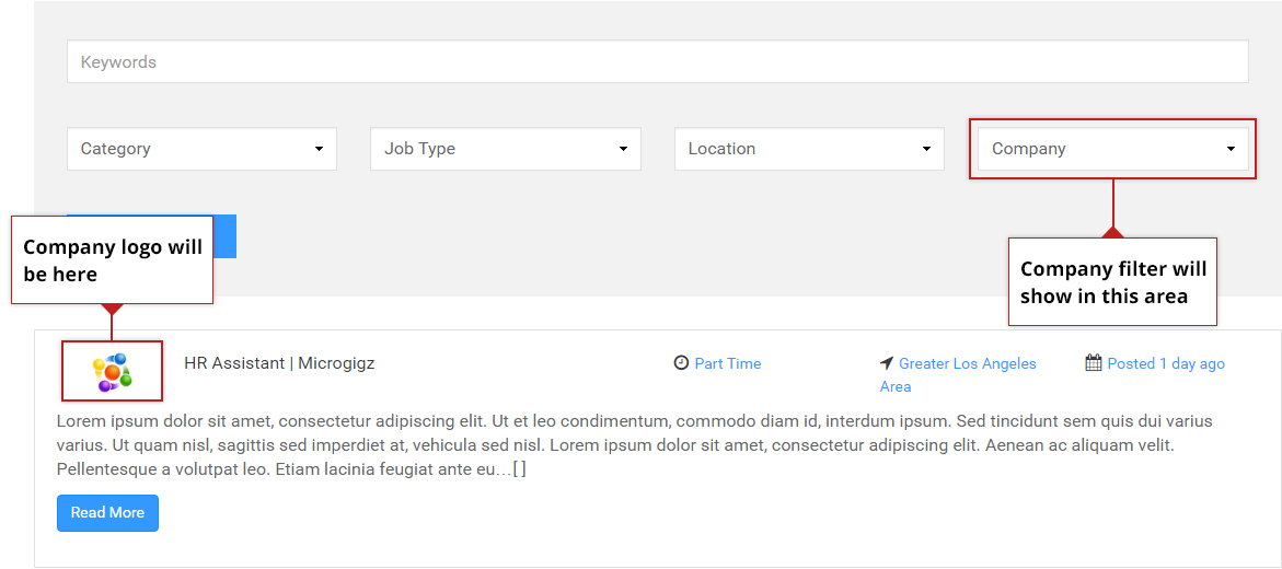 Company Filter & Company Details on Simple Job Board Front-end
