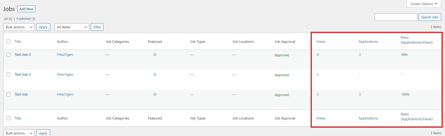 Job-Applications-Counter for Simple Job Board